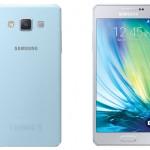 Hai smartphone Samsung Galaxy vỏ kim loại A5 và A3