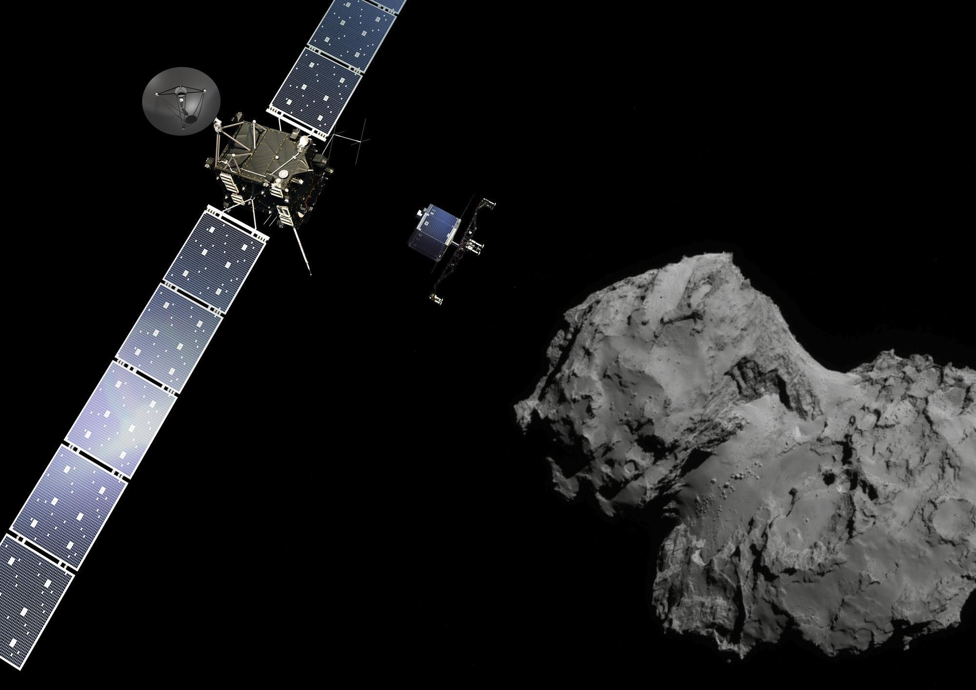 philae found! rosetta space science our activities esa - HD 2000×1414