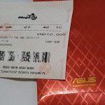 Tấm vé số Vietlott của Asus Việt Nam